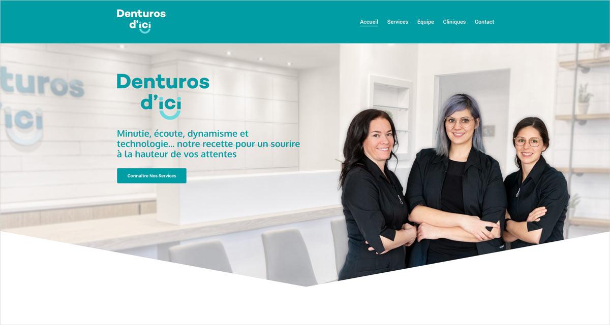 site web Denturos d'ici