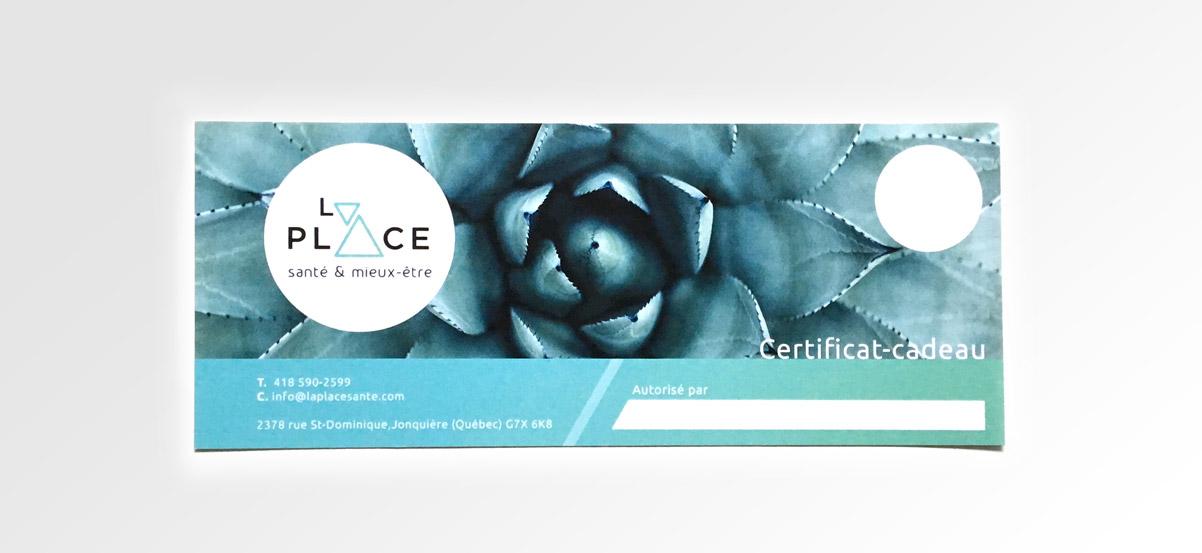 Certificat-cadeau La Place Santé & Mieux-être