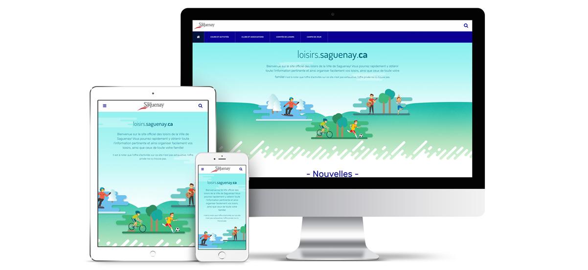 Maquette site loisirs Saguenay