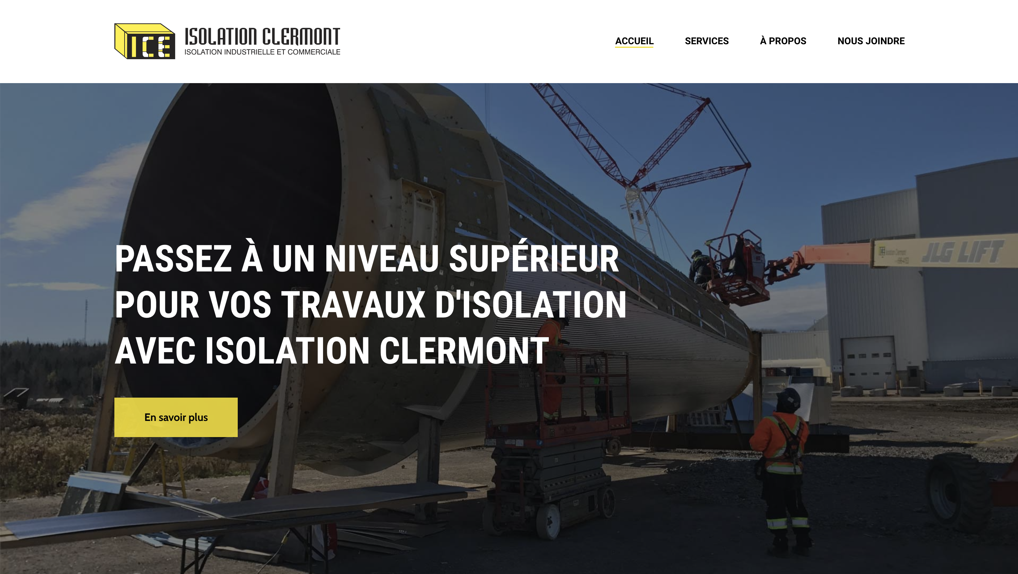 Site web Isolation Clermont