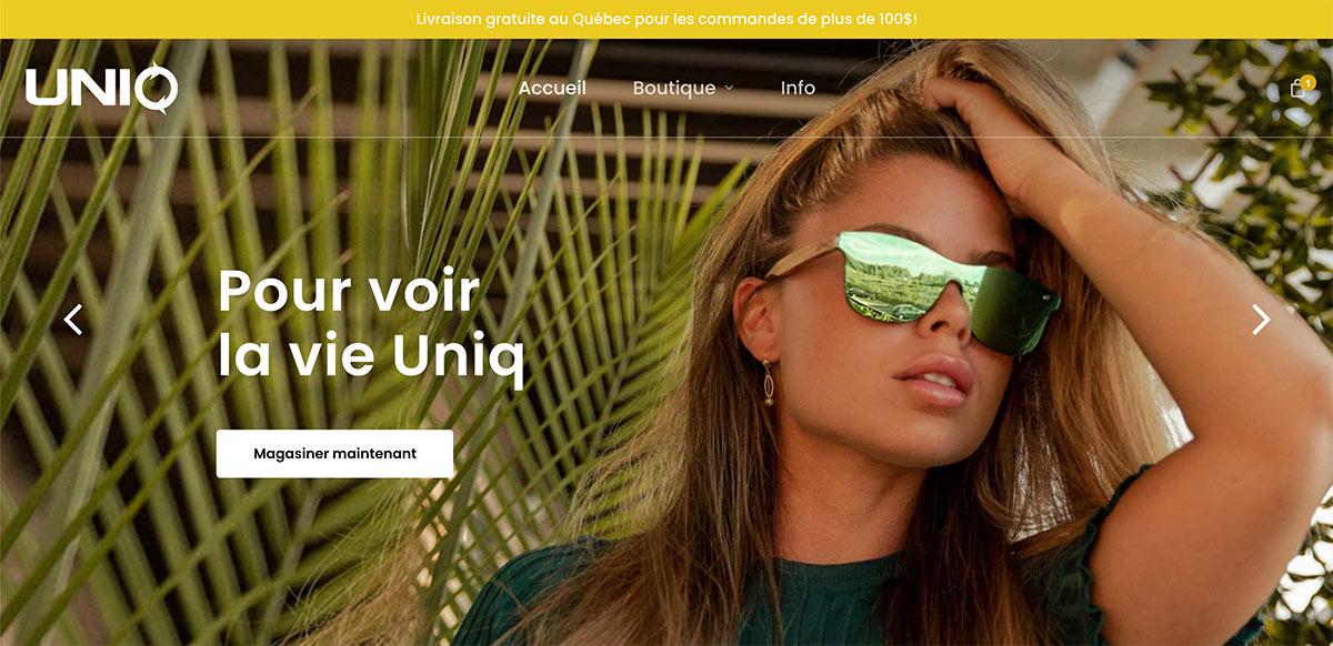 Site web Lunette Uniq